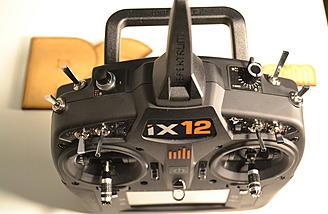 The ix12 has all the switches and sliders you expect on a high quality transmitter.
