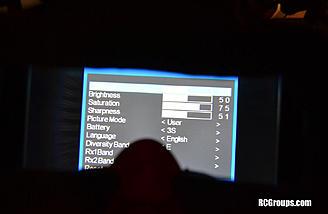 Here is the menu screen.