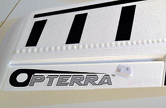 Vortex generator locations enhance slow speed stability and control.