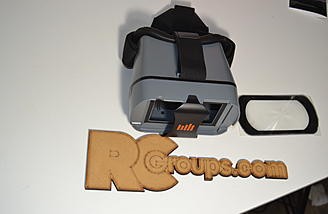 The goggles are not included in the package but for $60 are an easy way to wear the screen on your head.