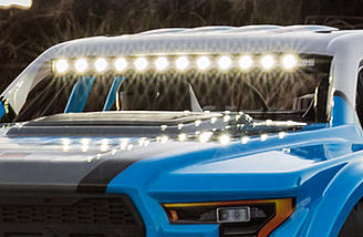 Brilliant LED lights on the integrated light bar cast more than enough illumination for running at night. Plus, the body-mounted LEDs place only a small demand on the battery allowing you to stay out all night!