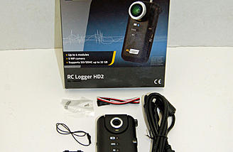 The RC Logger HD2 is a great HD camera with a small footprint, onboard lipo and more.