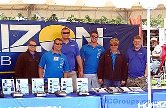 Team Horizon was on the field and helping customers under their tent.