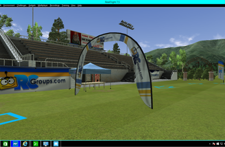 The soccer field is now an FPV course complete with gates!