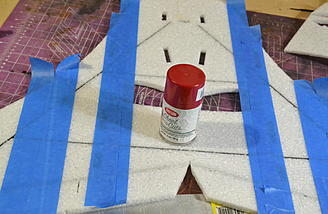 Before you add any fins get your paint job on the main part of the fuse. I did some simple racing stripes.