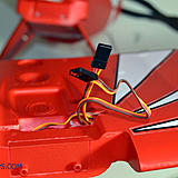 The servo wires for the wing servos.