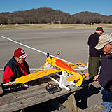 Some EWMA members prepping a plane.