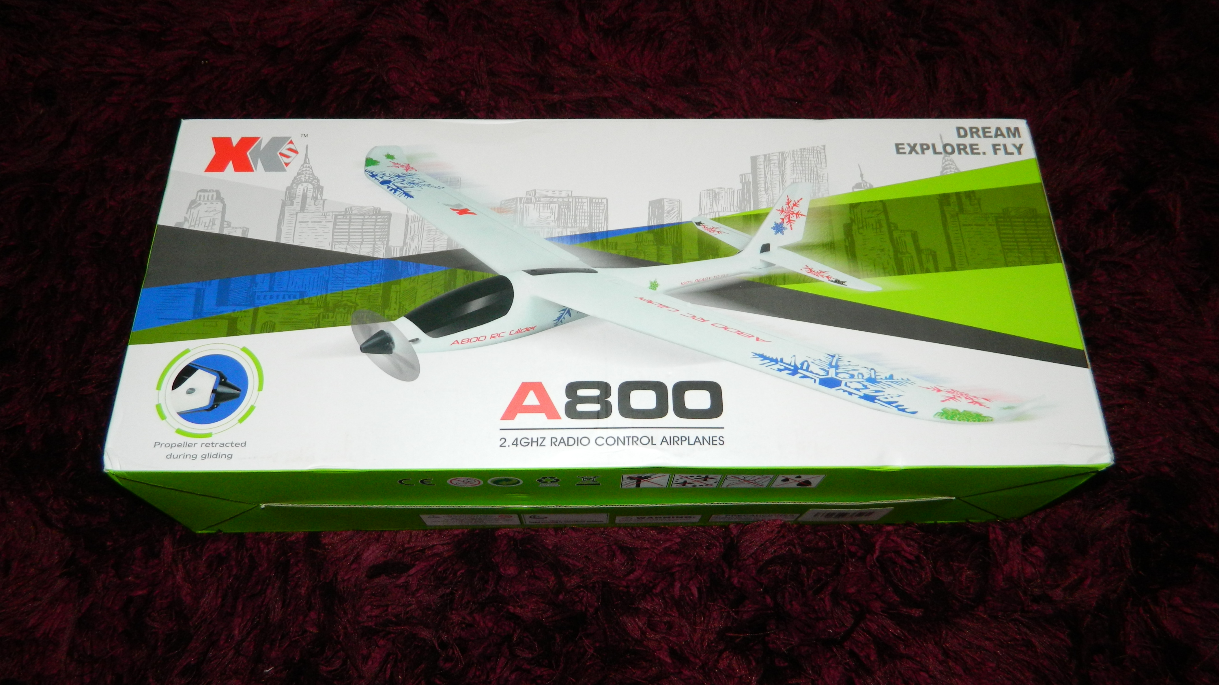 Black Canopy for XK A800 RC Glider Airplane Fixed-wing Aircraft Brand New