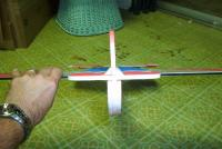 Name: 3dplane 003.jpg Views: 136 Size: 85.2 KB Description: before the bottome pieces were installed.  You can see where a piece of depron about 1 inch wide would be much lighter than the wood, if installed at the correct angle