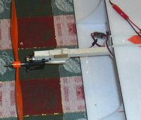 """Name: Landing gear detail 1.jpg Views: 1319 Size: 67.4 KB Description: This pic shows the ply on the bottom, small piece in back, and supports on the side. (I had to rip off the bottom piece when I discovered the .032"""" wire wouldn't work, and make it a """"thicker"""" slot for the .047 wire)."""