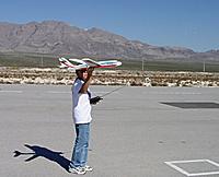 Name: SportifLaunch.jpg Views: 106 Size: 81.4 KB Description: My Walmart foamie with two brush motors - flew great, really great!