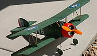 """Name: DSCF0005.jpg Views: 59 Size: 71.0 KB Description: My foamy Sopwith - this plane was a lot of fun and a great intro into electric. Sheepishly, he said. """"It was DC."""""""
