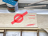 Name: 633D6FA0-FAB1-46F7-BE09-5A6723BFE627.jpeg Views: 9 Size: 2.62 MB Description: DO NOT line the leading edge sheeting up with the spar.