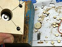 Name: IMG_3490.jpg Views: 5 Size: 600.9 KB Description: Opened the holes in the third plate with a bigger drill, to allow for slight misalignment when gluing it up.