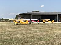 Name: 2C6AEC8E-A60B-4571-9F1D-8A2709B8029A.jpeg Views: 11 Size: 838.1 KB Description: Full scale visitors at the Pioneer Flight Museum. Two vintage Piper Cubs and a recent Carbon Cub