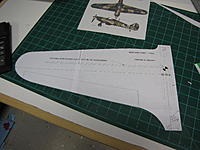 """Name: IMG_4818.jpg Views: 225 Size: 177.6 KB Description: This half panel is a 110% enlargement, I made a note on template that I need a 3"""" wide fuselage."""