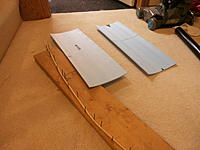 Name: P9031118.jpg Views: 102 Size: 158.2 KB Description: UC wing panels, and a dowel forming jig. Wet dowel, let dry in a wood and nail jig!