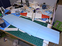 Name: P9031124.jpg Views: 59 Size: 215.6 KB Description: Wing layed out as it is so far, no tips yet.
