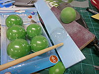 Name: P9041143.jpg Views: 66 Size: 238.5 KB Description: Balls, and piece of packaging near dowel will yeild a goggle too!