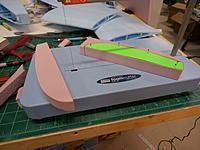 "Name: P9061182.jpg Views: 69 Size: 166.0 KB Description: Wingtips cut from 1"" pnk foam."