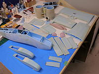 Name: PA051362.jpg Views: 113 Size: 146.0 KB Description: All the pre-fab airframe parts are layed out ready to start final assembly.