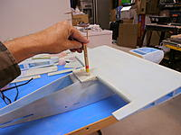 Name: PA061367.jpg Views: 84 Size: 141.2 KB Description: Mount the wing to the fuselage.