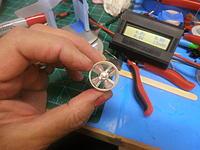 Name: 4 blade small vane 22mm Aluminum Rotor 1.jpg Views: 256 Size: 143.4 KB Description: 4 blade, 22mm aluminum rotor, mounted in the BimRC EDF, using my tiny prop adaptor.