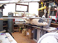 Name: C130 with full wing assembled.jpg Views: 329 Size: 108.7 KB Description: This section and work on main work island. I have 110V power outlets at 3 points, full lighting and natural wood fireplace that heats up the shop to 15C in 50 mins roughly!...