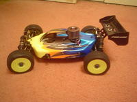 Name: Used Losi 8ight $100.00 (3).jpg Views: 108 Size: 68.8 KB Description: Cleaned it a little and threw a big motor in it for now.. cant wait to set it up brushless :)