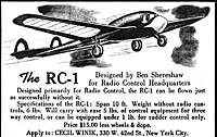 Name: RC-1_Small.jpg Views: 516 Size: 115.8 KB Description: The original ad for the RC-1.  Note the twin fins and the forward windshield