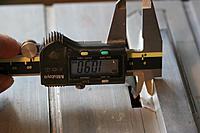 Name: Waveney mast cut 1-4.jpg Views: 63 Size: 127.6 KB Description: Saw fence set 10.9mm from  blade set at 45 degrees