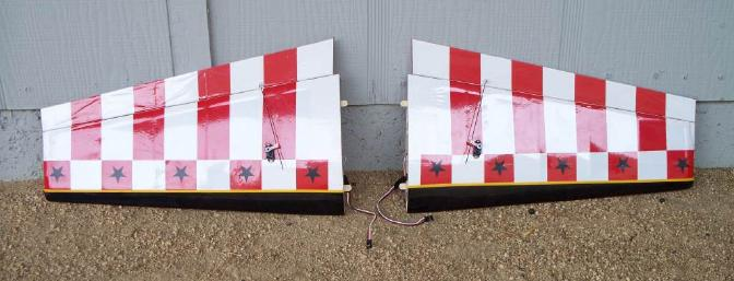 Both completed wing halves are ready to fly.