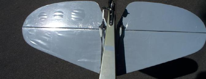 Underside view of the installed horizontal stabilizer