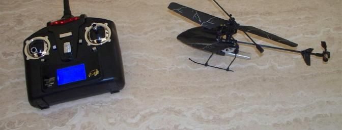 Not only is the helicopter nice and compact, so too is the transmitter.