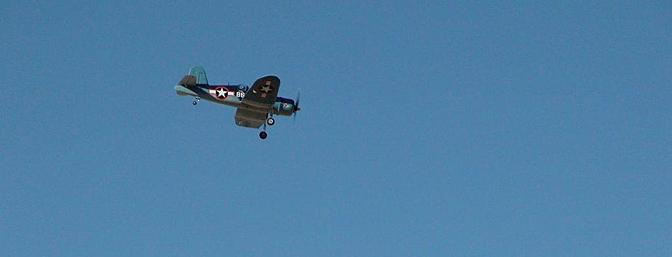 Even with the original motor, the Corsair is a very graceful flyer.