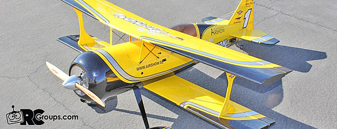 Review Nitroplanes Pitts Model 12 Python ARF Review, Part