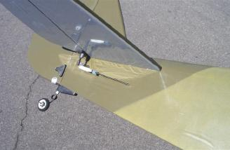 Completed tail showing the pushrod for the right elevator half