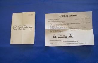 Separate manuals are provided for the charger and camera.