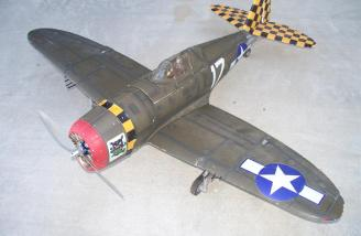 The reborn P-47 shortly after its first flight with the 86MA09 up front.