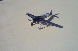 The Focke-Wulf waits its turn to take to the desert skies air above the Coachella Valley Radio Control Club.