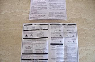 A clearly written instruction booklet is enclosed along with the warranty card.  The warranty may also be activated online.