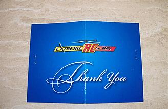 It isn't often one gets a thank you card from a company along with an order.