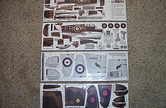 Here they are shown out of the bag.  It's hard to imagine stickers like this coming together to create an R/C model airplane, but they do.