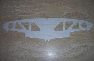 The top of the one piece wing is shown here.