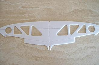 Here's the bottom with its milled groove for the CF spar in much the same way as that on the fuselage.