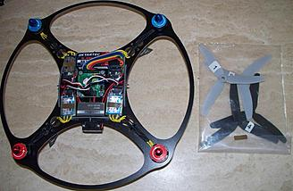It looks even nicer straight out of the box.  Once the props are mounted, the canopy installed, the battery charged and the transmitter juiced up, this little quad is ready to fly.
