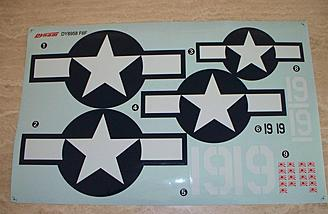 "The factory decals are at least diecut.  The stars and bars are passable, but I wanted more for the Hellcat.  The ""stencils"" are each one piece, meaning big shiny squares over a matte-finished model.  Ick."
