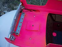 Name: clod body repaired crack.jpg Views: 67 Size: 68.1 KB Description: Poorly done repair of a crack in the left front fender of the Clodbuster body viewed from underneath.