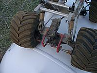 Name: clod gearbox rear.jpg Views: 69 Size: 97.8 KB Description: Rear view of the Clodbuster's gearbox.  The four-wheel steering is intact.
