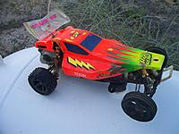 Name: rc10 flat with body right.jpg Views: 52 Size: 103.5 KB Description: Right side of the flat RC10 with the body and spoiler.